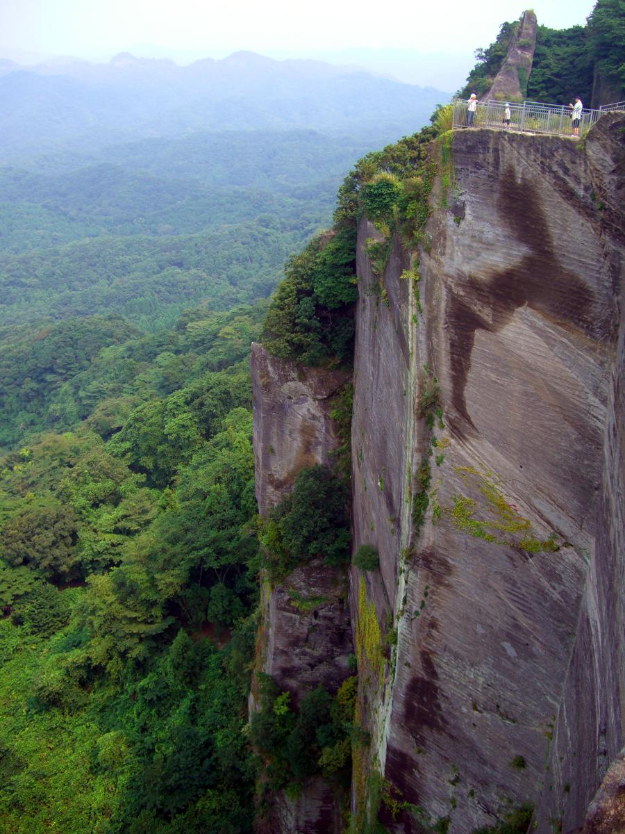 Breathtaking landscape in Japan: Edge of a cliff on Mount Nokogiri (Chiba prefecture).