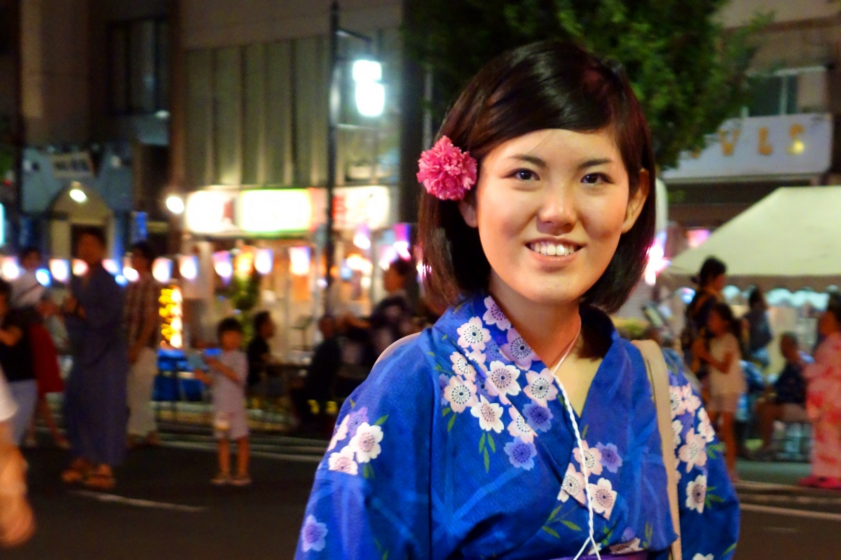 Yukata De Guide Tour: Hiroe in 墨田区 (Sumida ward, Tokyo, Japan) on 02 August 2014.
