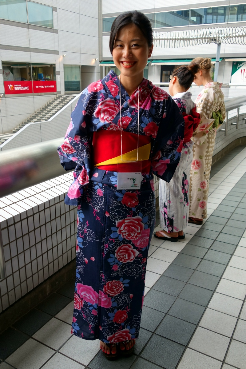 Yukata De Guide Tour: Lian in 墨田区 (Sumida ward, Tokyo, Japan) on 02 August 2014.